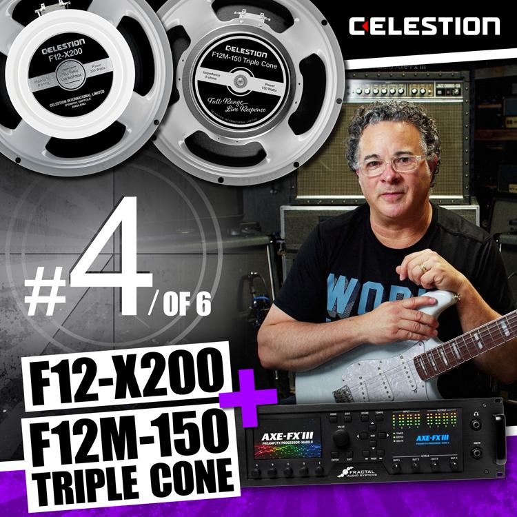 F12-X200 + F12M-150 Triple Cone Full Range LIVE Response Speakers