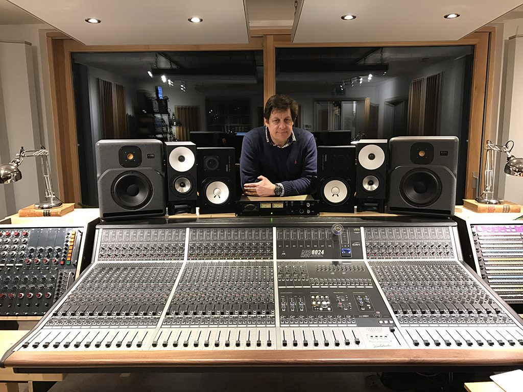 Cenzo Townshend with the Celestion IR library in Decoy Studios, Suffolk