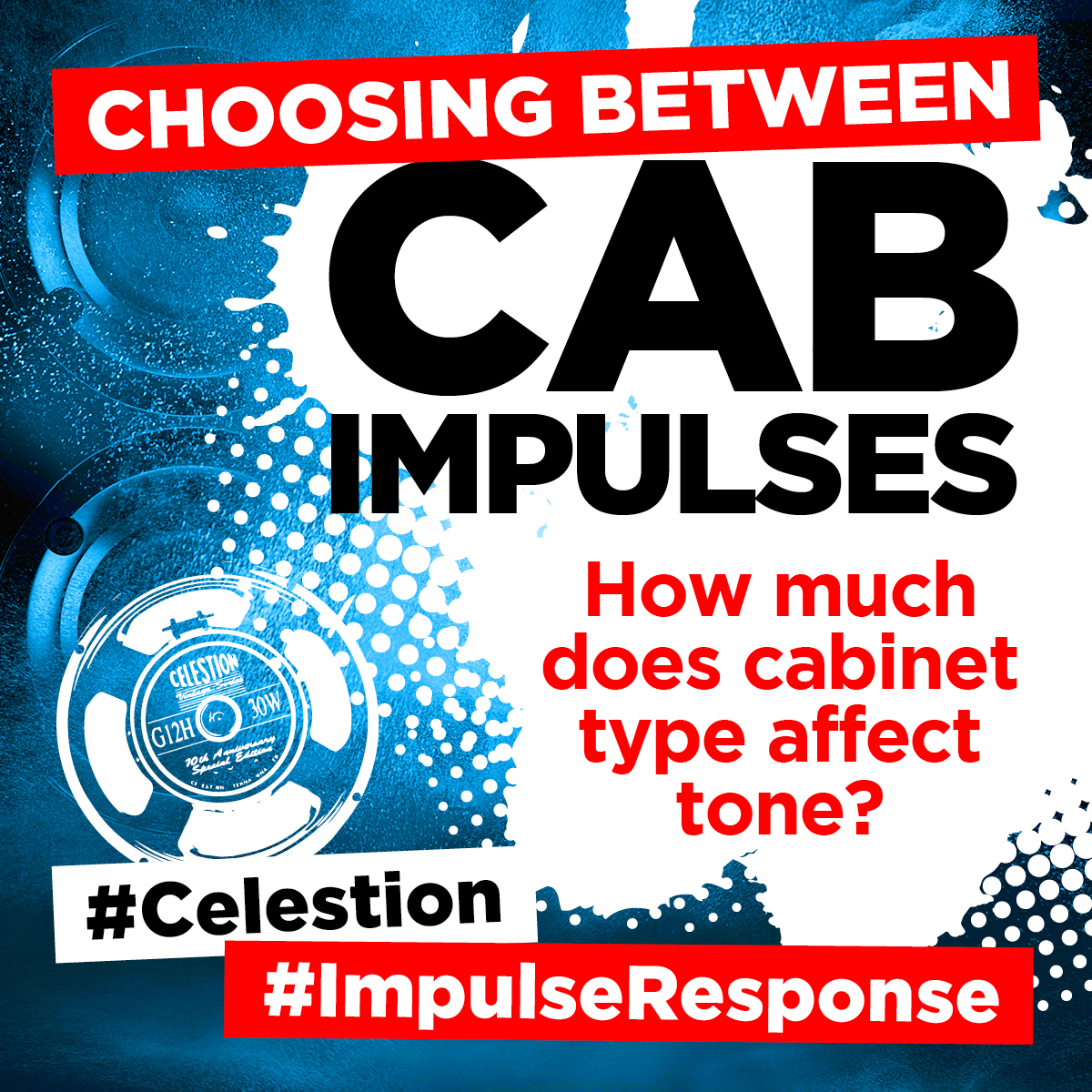 Celestion guitar cabinets, impulse responses
