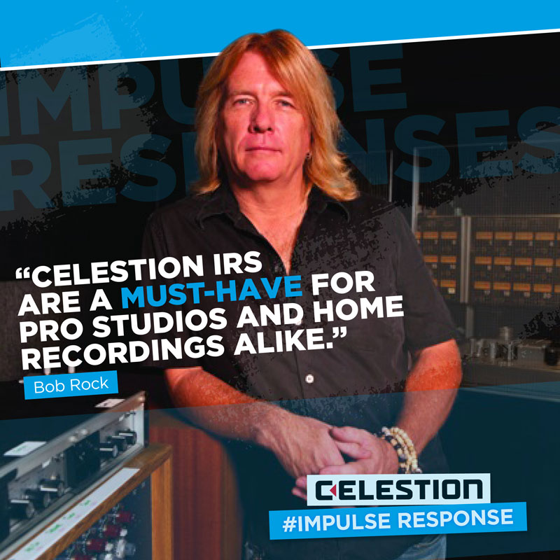 Celestion Interviews Legendary Producer Bob Rock About Impulse Responses