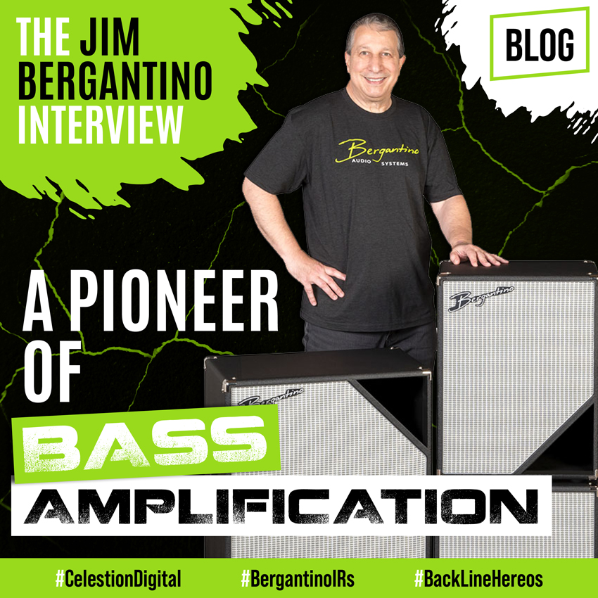 Bergantino Bass IRs - a graphic of Jim Bergantino for his recent interview with Celestion Digital